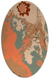 rug #702897 | oval red-orange abstract rug