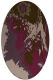 rug #702921   oval purple graphic rug