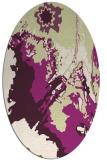 rug #702925 | oval purple abstract rug