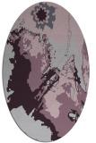 rug #702933 | oval purple rug