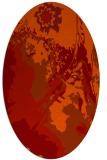 rug #702941 | oval red rug