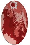 rug #702945 | oval red rug