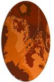 rug #702957 | oval red-orange graphic rug