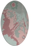 rug #703037 | oval pink popular rug