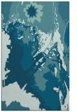 rug #703097 |  blue-green graphic rug