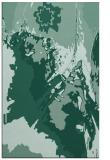 rug #703105    blue-green abstract rug