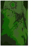 rug #703117 |  green abstract rug