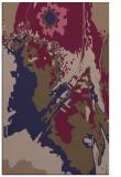 rug #703157 |  blue-violet graphic rug