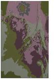 rug #703185 |  green abstract rug