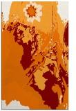rug #703241 |  orange abstract rug