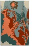 rug #703245 |  orange abstract rug