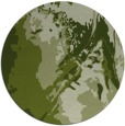 rug #703525 | round green abstract rug