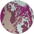 rug #703557 | round pink abstract rug
