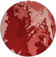 rug #703649 | round red abstract rug
