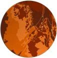 rug #703661 | round red-orange graphic rug