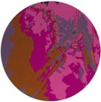 rug #703665 | round red-orange abstract rug