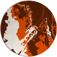 rug #703669 | round red-orange graphic rug