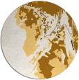 rug #703697 | round brown abstract rug