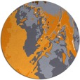 rug #703749 | round light-orange graphic rug