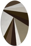 rug #704457 | oval white graphic rug