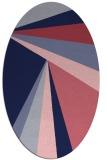 rug #704549 | oval pink popular rug