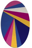 rug #704561 | oval blue-violet graphic rug