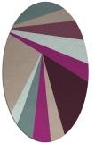 rug #704613 | oval pink graphic rug
