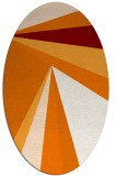 rug #704649 | oval orange graphic rug