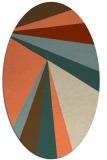 rug #704653 | oval beige graphic rug