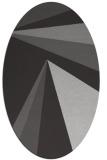 rug #704657 | oval red-orange stripes rug