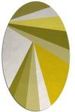 rug #704733 | oval white stripes rug