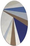 rug #704737 | oval white stripes rug