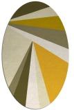 rug #704745 | oval yellow stripes rug