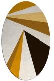 rug #704753 | oval brown rug