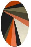 rug #704765 | oval black rug