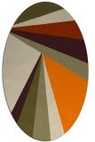 rug #704773 | oval beige stripes rug