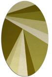 rug #704777   oval light-green popular rug