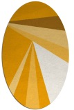 rug #704793 | oval light-orange stripes rug