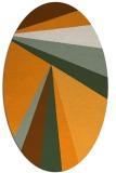 rug #704801 | oval light-orange graphic rug