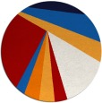 rug #705401 | round red graphic rug