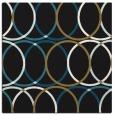 rug #705885 | square brown circles rug