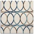 rug #705889 | square white circles rug