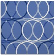 rug #705905 | square blue circles rug