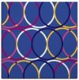 rug #705969 | square blue-violet retro rug