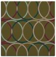 rug #705985 | square brown geometry rug