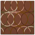 rug #706009 | square mid-brown circles rug