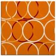 rug #706057   square orange circles rug