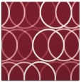 rug #706077 | square pink circles rug