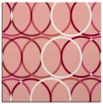 rug #706085 | square white circles rug