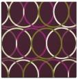 rug #706093 | square green retro rug